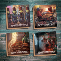 Season's Grim Things Season Two creepy Christmas cards pack of four designs