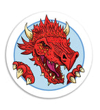 Dragon illustration sticker. For letters and fun. RPG.  Dragons