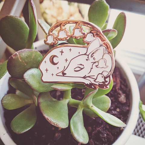 Starlight Fawn enamel pin