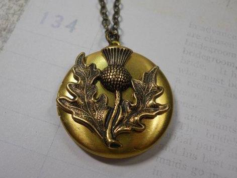 Brass Thistle Locket