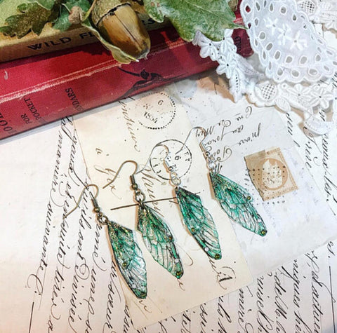Magical Faerie Earrings with Bronze Hook