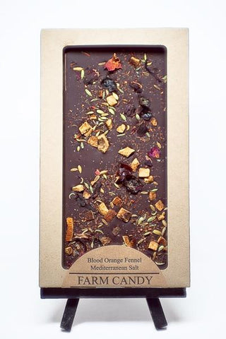 Blood Orange Fennel Chocolate Bar