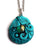 Blue Mermaid Tail Pendant with Emerald-Colored Cabochon