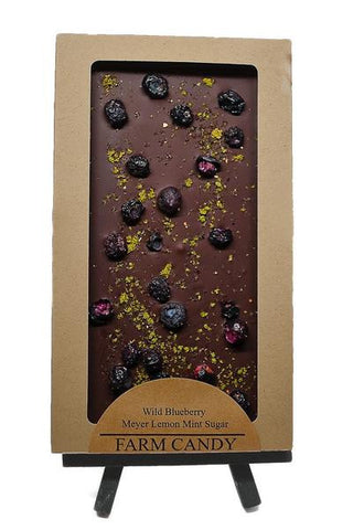 Wild Blueberry Meyer Lemon Mint Chocolate