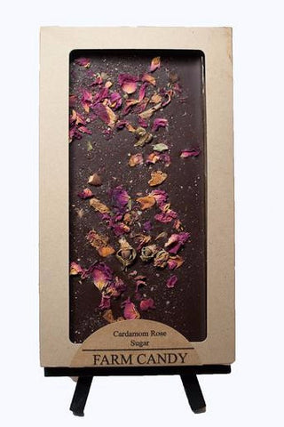 Cardamon Rose Chocolate Bar