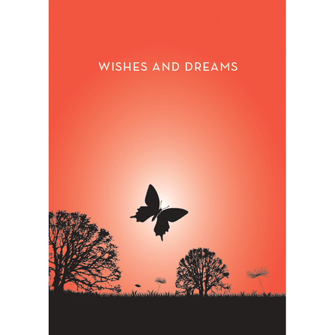 Butterfly Wishes - Flying Wish Paper Card