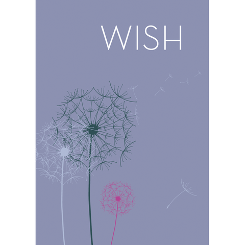 Dandelion Flying Wish Paper Card