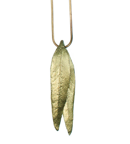 Eucalyptus Long Leaf Pendant Necklace