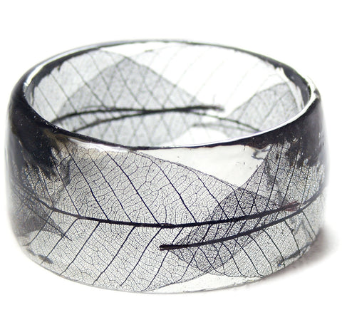 Skeleton Leaf Resin Bracelet