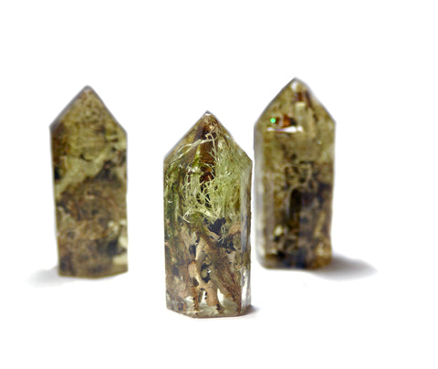 Forest Mix Crystal Standing Point