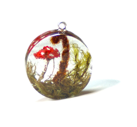 Forest Floor Resin Pendant