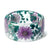 Teal and Lavender Flower Resin Bracelet