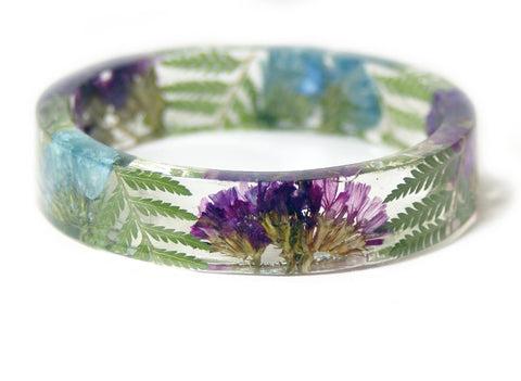 Flowers and Ferns Resin Bracelet