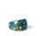 Teal and Gold Flake Ring, Sizes 6-9