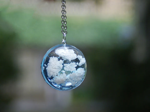 White Fluffy Clouds Pendant