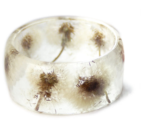 Summer Dandelion Resin Bracelet