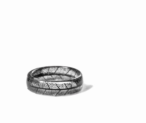 Skeleton Leaf Nature Ring, Sizes 4-10