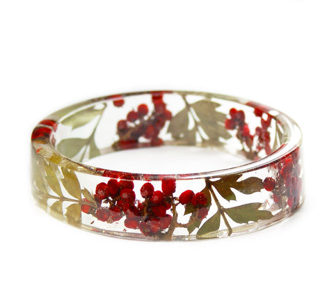Holly Berry Resin Bracelet