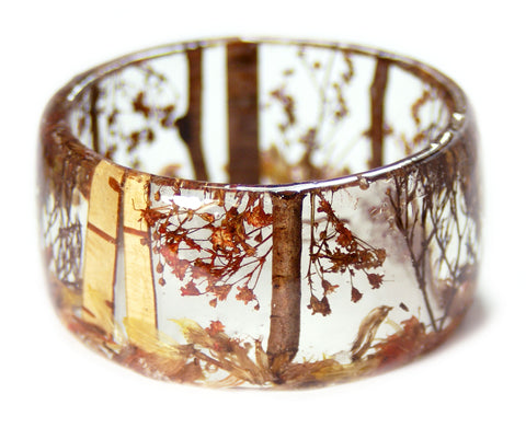 Autumn Forest Resin Bracelet