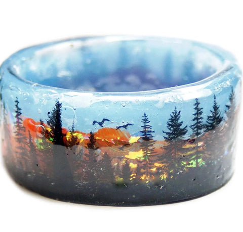 Sunset in the Forest Resin Bracelet