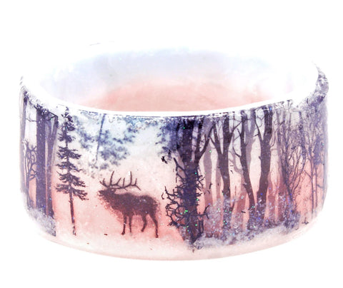 Winter Silhouette Resin Bracelet