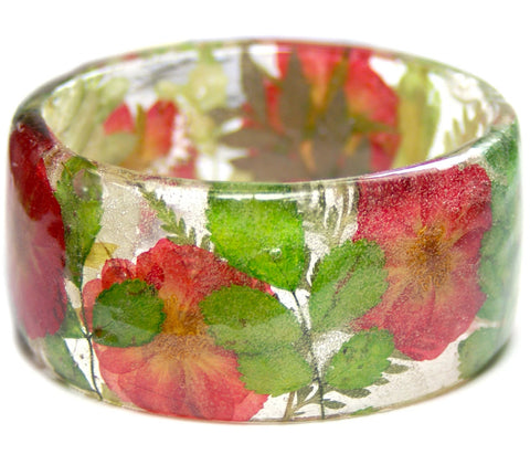 Blooming Roses Resin Bracelet