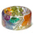 Rainbow Flower Resin Bracelet