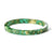 Gold Flake Stacking Resin Bracelet -- Green