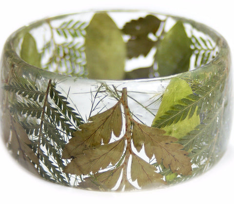 Leaves and Foliage Resin Bracelet