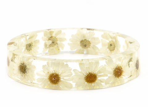 Summer Daisy Resin Bracelet