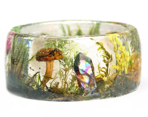 Crystal Garden Resin Bracelet