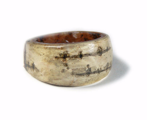 Birch Bark Ring, Sizes 5-9