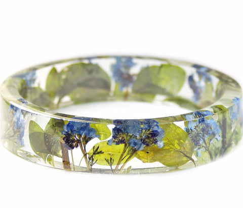 Forget Me Not Flower Resin Bracelet