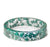 Teal Flower Resin Bracelet