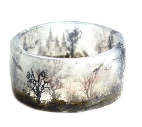 Spooky Forest Resin Bracelet