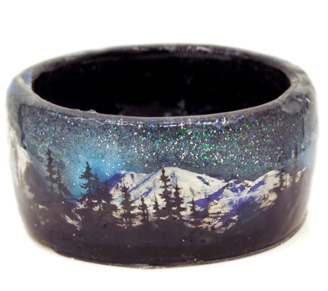 Mountains at Night Bracelet Resin Bracelet
