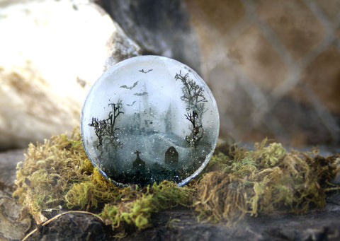 Spooky Forest Resin Sculpture