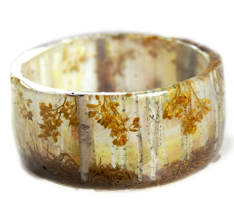 Birch Tree Forest Resin Bracelet