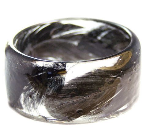 Black Feather Resin Bracelet