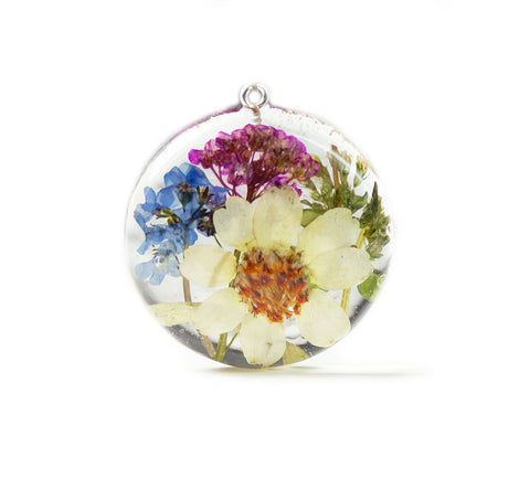 Magical Flower and Herb Resin Pendant