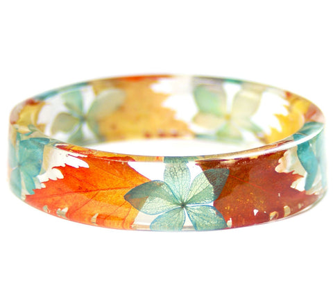 Autumn Beauty Resin Bracelet