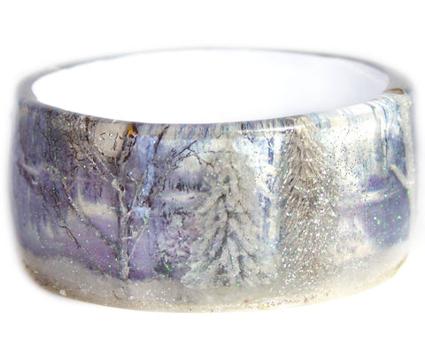 Sparkling Winter Resin Forest