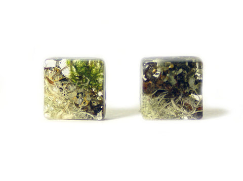 Forest Mix Resin Earrings