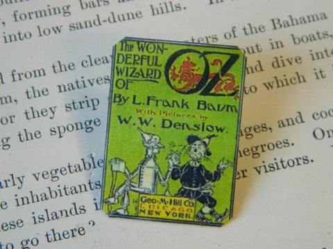 Wizard of Oz Book Cover Pin
