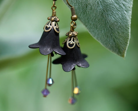 Queen of the Night Flower Earrings