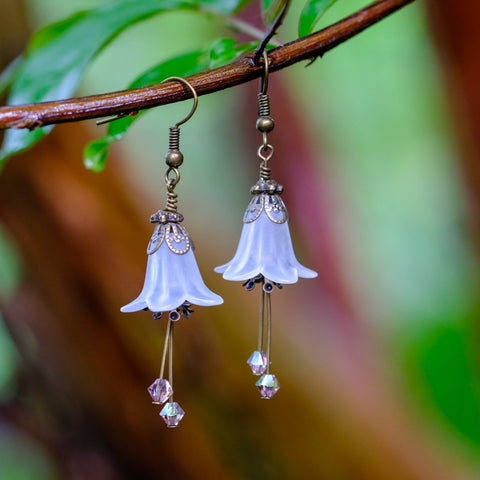 Winter Blossom Flower Earrings