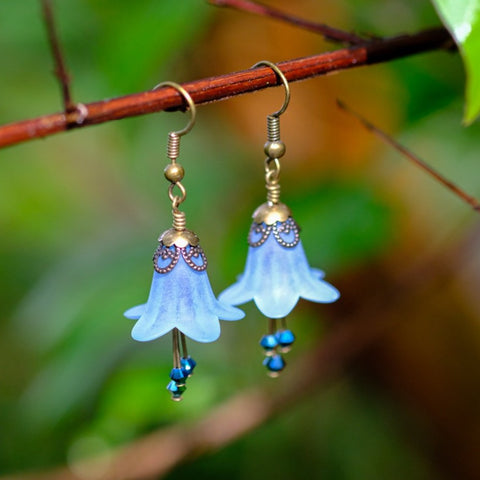Virginia Bluebell Flower Earrings