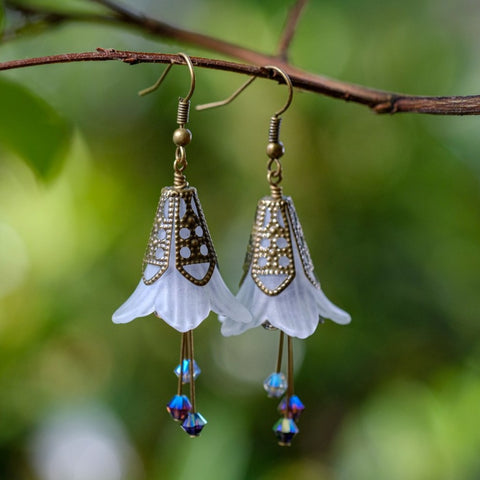 Ephemeral Moonflower Earrings