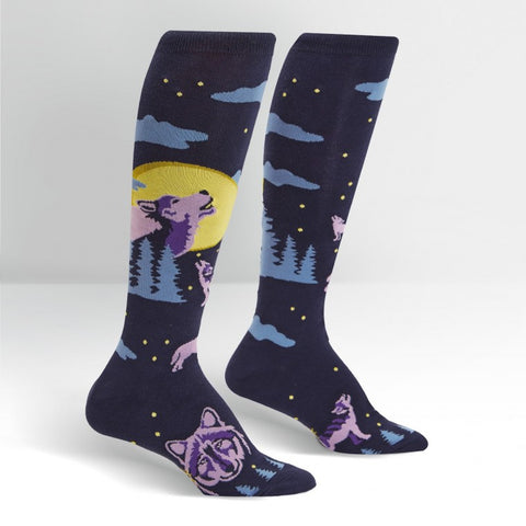 6 Wolf Moon Knee High Socks