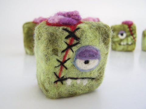 ZOMBIE Felted Soap Bar